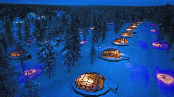 kakslauttanen arctic igloos