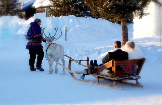 ice-hotel-sweden-wedding-sled